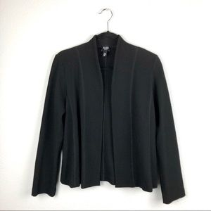EILEEN FISHER Open Front Waffle Knit Cardigan PS